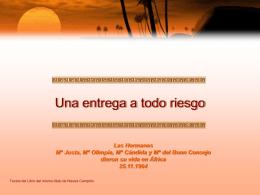 Diapositiva 1 - Misioneras Dominicas