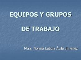 EQUIPOS Y GRUPOS DE TRABAJO