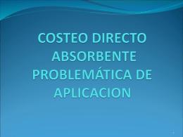 COSTEO DIRECTO LISTA DE SECCIONES