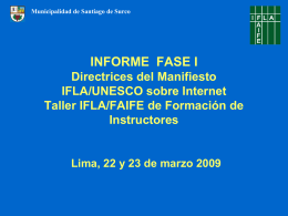 INFORME FASE I Directrices del Manifiesto IFLA/UNESCO