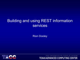 Building and using REST information services