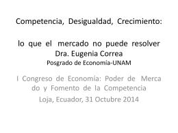 Competencia, Desigualdad, Crecimiento: lo que el mercado