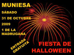 FIESTA DE HALLOWEEN - Muniesa (Teruel), lugar de …