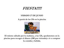 FIESTA!!!!! - NuevosVecinos.com