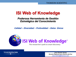 Web of Science 7.0 Basics