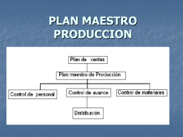 PLAN MAESTRO PRODUCCION