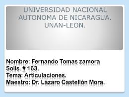 Nombre: Fernando Tomas zamora Solis. # 163. Tema