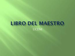 LIBRO DEL MAESTRO