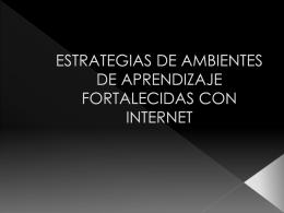ESTRATEGIAS DE AMBIENTES DE APRENDIZAJE …