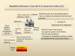 Republica Romana: Crisis del S.II y Guerras Civiles (S.I