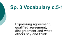 Sp. 3 Vocabulary c.1A-1