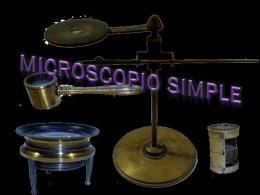 MICROSCOPIO SIMPLE