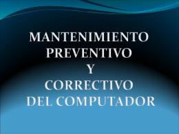 Diapositiva 1 - MANTENIMIENTODEEQUIPOSSENA