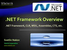 .NET Framework Overview - aspnet-mvc-course