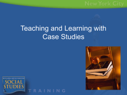 Case Studies - New York City Department of Education