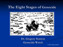 Predictors of Genocide - Genocide Watch Home Page