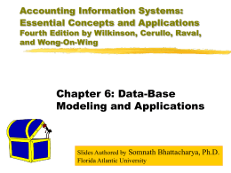 Accounting Information Systems: Essential Concepts …