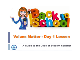 Values Matter - Office of School Improvement