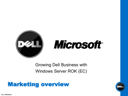 Dell Marketing - ROK EC overview
