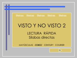 VISTO Y NO VISTO - 9 l e t r a s | Blog de recursos