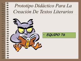 Prototipo Didactico Para La Creacion De Textos Literarios