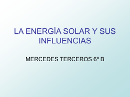 LA ERNEGIA SOLARY SUS INFULENCIAS GB