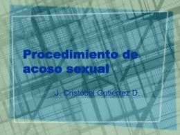 Procedimiento de acoso sexual