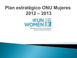 UN Women's Strategic Plan 2011