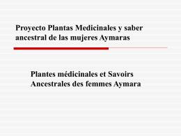 Proyecto Plantas Medicinales y saber ancestral de las