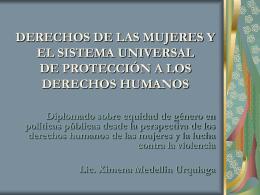 DERECHOS DE LAS MUJERES Y EL SISTEMA UNIVERSAL …