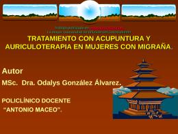 TRATAMIENTO CON ACUPUNTURA Y AURICULOTERAPIA …