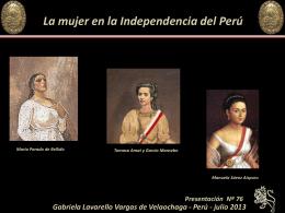LAS MUJERES EN LA INDEPENDENCIA DEL PERU