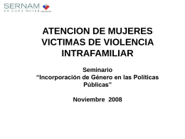 Diapositiva 1 - SERNAM - Servicio Nacional de la Mujer