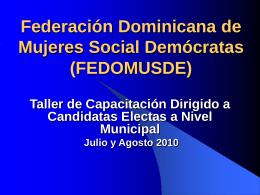 FEDERACION DOMINICANA DE MUJERES SOCIAL …
