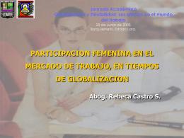 PARTICIPACION FEMENINA EN EL MERCADO DE …