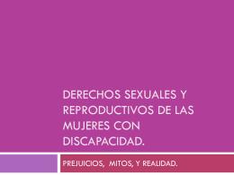 Derechos sexuales y reproductivos de las mujeres con