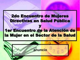 2do Encuentro de Mujeres Directivas y 1er Encuentro de la
