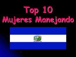 Top 10 Mujeres Manejando