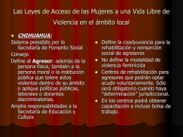 Las Leyes de Acceso de las Mujeres a una Vida Libre de