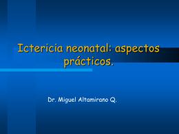 Ictericia Neonatal - Noveno Semestre UCIMED 2012 | Just