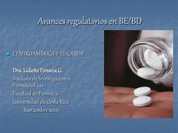 Normativa de Bioequivalencia de Costa Rica