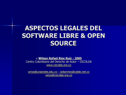 ASPECTOS LEGALES DEL SOFTWARE LIBRE & OPEN SOURCE