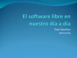 Software libre para uso sanitario