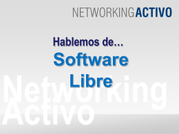 Diapositiva 1 - - Networking Activo
