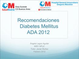 Recomendaciones Diabetes Mellitus ADA 2012