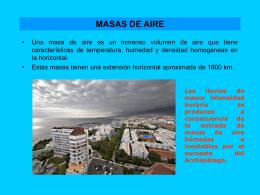 MASAS DE AIRE - Biblioteca Central de la Universidad