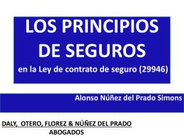 LOS PRINCIPIOS JURIDICOS DE SEGUROS