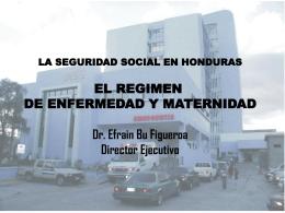 LA SEGURIDAD SOCIAL EN HONDURAS