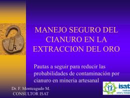 MANEJO SEGURO DEL CIANURO EN LA EXTRACCION DEL …
