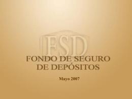 La Red de Seguridad Financiera y el Sistema de Seguro de
